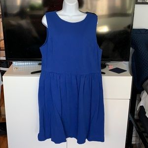 J. Crew Royal Blue Ponte Dress sz XL pockets!